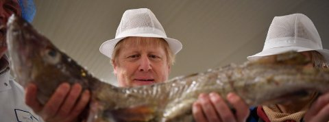 Frische Fische und Boris Johnson (Credit: Reuters)